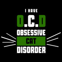 Obsessive Cat Disorder (White & Green) Thumbnail